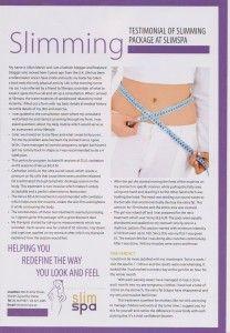 Slimming testimonial of slimming